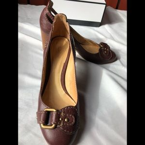 ❤️Chloe Brown Leather Buckle Shoes
